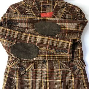 Dalia Plaid jacket with elbow patches Womens 8